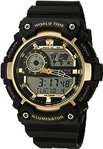 Casio Men's 'Super Illuminator' Quartz Resin Casual Watch, Color:Black (Model: AEQ-200W-9AVCF)