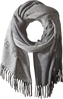Solid Logo Oblong Scarf