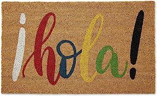 "DII Natural Coir Doormat, Decorative Hello Mat, Hola!, 18X30"""