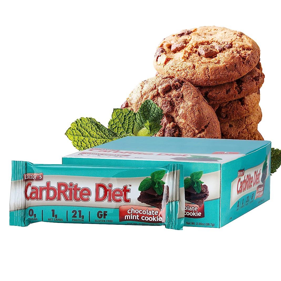 コンデンサーラウンジ磁器ドクターズダイエット?カーボライト?バー?チョコレートミントクッキー 12本
