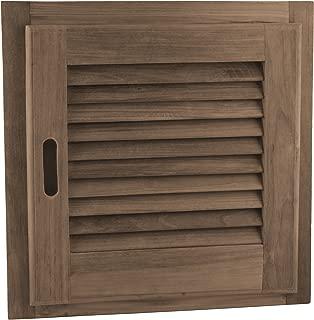 SeaTeak Teak Louvered Door and Frame