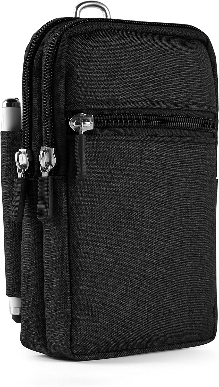 Nylon Multipurpose Utility Gadget Belt Waist Bag with Cell Phone Holster Holder