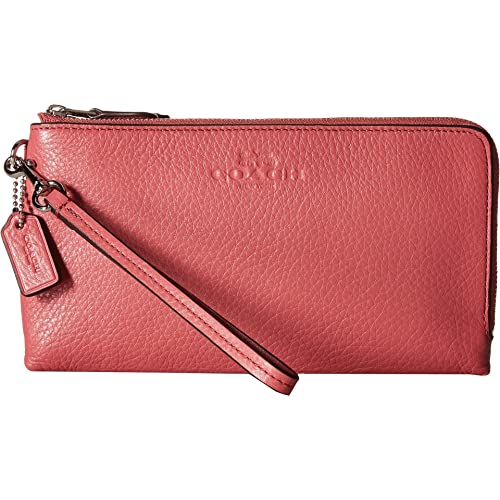COACH Womens Pebbled Leather Double Zip Wallet bb33d34a1f818