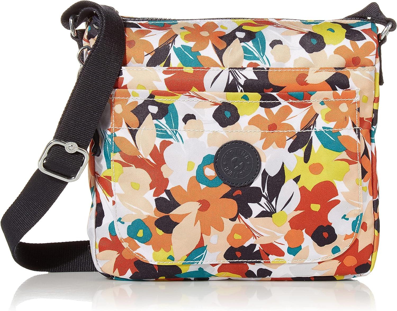 Kipling Women's Sebastian Crossbody, Super Light, Durable Messenger, Nylon Shoulder Bag, Bold Floral