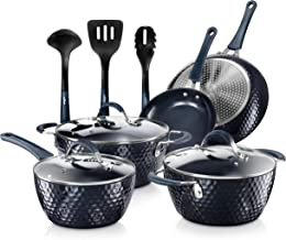 Nutrichef Nonstick Cookware Excilon Home Kitchen Ware Pots & Pan Set with Saucepan Frying Pans, Cooking Pots, Lids, Utensi...