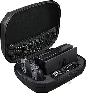 comprar comparacion AmazonBasics – Funda de almacenamiento para Nintendo Switch, color negro