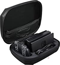 AmazonBasics Ultimate Hard Shell Travel and Storage Carrying Case for Nintendo Switch - 9 x 5 x 12 Inches, Black