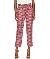 The Kooples - Pyjama Style Trousers in a Red and Ecru Print