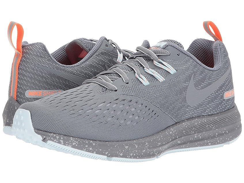 影響繰り返した杭(ナイキ) NIKE レディースランニングシューズ?スニーカー?靴 Air Zoom Winflo 4 Shield Cool Grey/Metallic Cool Grey/Wolf Grey 7.5 (24.5cm) B - Medium