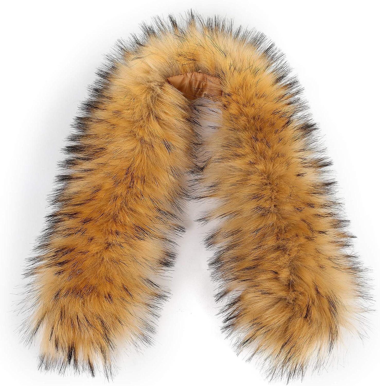 Faux Fur Trim for Hood Replacement Detachable Fur Hood Trim of Winter Coat Unisex