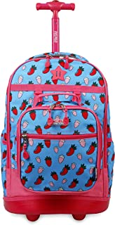 J World New York J World New York Kids Duo Rolling Backpack With 'FREE'Lunch Bag for School and Travel