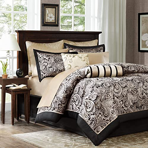 Black and Gold Comforter Set: Amazon.com