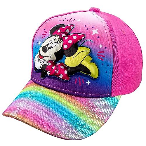 Disney Minnie Mouse Little Girls Hat Baseball Cap Pink Rainbow