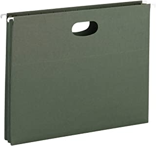 """Smead Hanging Pocket with Full-Height Gusset, 1-3/4"""" Expansion, Letter Size, Standard Green, 25 per Box (64218)"""