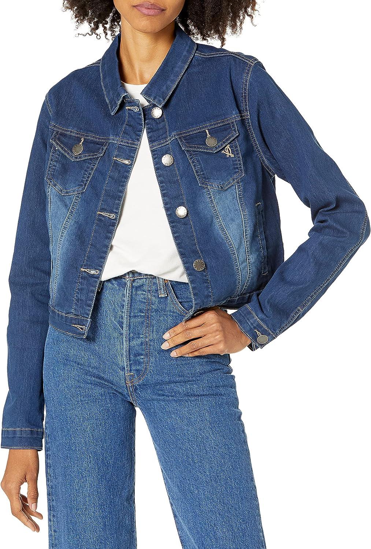 YDX Women's Jeans Denim Jacket Ripped Raw Hem Cropped in Black Or White