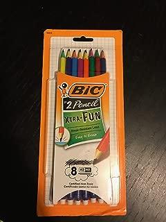 BIC Xtra-Fun Graphite Pencil, #2 HB, 8-Count