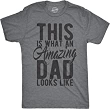 Mens This is What an Amazing Dad Looks Like Tshirt Funny Fathers Day Tee for Guys