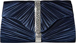 Florence Pleated Rhinestone Clutch