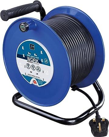 SMJ ELÉCTRICO Heavy Duty 50mtr Cable De Extensión Carrete 110v//16a del sitio