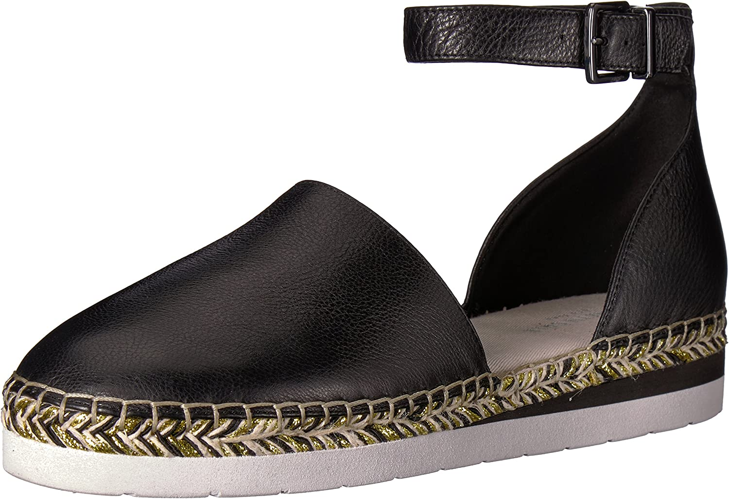 Kenneth Cole New York Womens Babbot Sporty Low Wedge Espadrille with Ankle Strap Espadrille Wedge Sandal