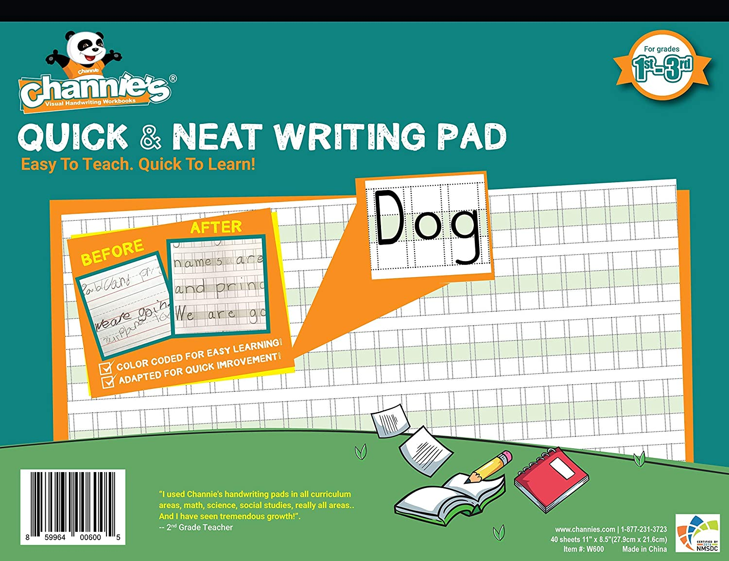 Channie's PHG6 Visual Handwriting Max 63% OFF Max 54% OFF Worksheet 3rd for 1st Grade -