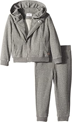 Hudson Kids - Two-Piece Fleece Hoodie w/ Jogger Pants Set (Toddler)
