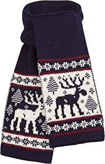 Scandica Boys Scarf Girls Wool Scarf Winter Knitted Scarf with Elk