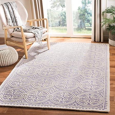 Amazon Com Safavieh Cambridge Collection Cam123c Handmade Moroccan Premium Wool Area Rug 9 X 12 Lavender Ivory Furniture Decor