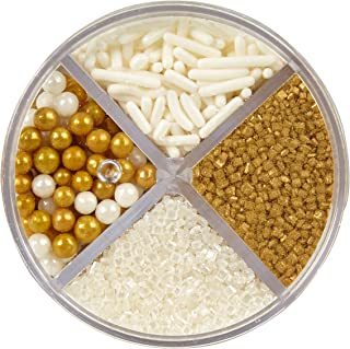 Wilton Pearlized Gold Sprinkles, 3.8 oz. Edible Gold Glitter
