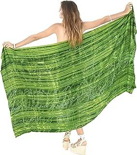 Women's Swimwear Bikini Cover-Ups Beach Towel Wrap Skirt Hand Tie Dye A