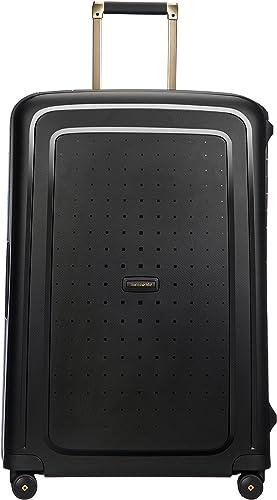 SAMSONITE S'Cure DLX Spinner 75, 4.5 KG Bagage cabine, 75 cm, 102 liters, Noir (Black/Gold Deluscious)