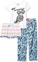 Freestyle Revolution Girls' Whoos Got Time Sleep 3pc Set T-Shirt, Shorts, Pants