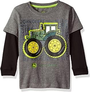 John Deere Baby Boys' 2 for Tee-Grey