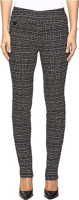 Lisette L Montreal - Grid Pattern Slim Pants