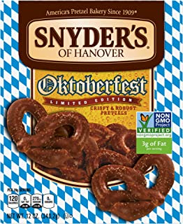 Snyder's of Hanover Oktoberfest Bavarian Pretzels, 12 Ounce