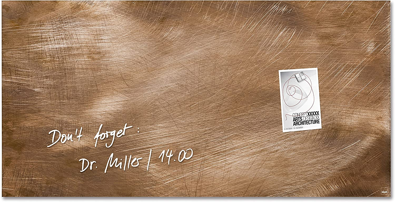 SIGEL GL267 Glas-Magnetboard 91 x 46 cm Used-Bronze-Optik   Magnettafel Artverum - weitere Designs Gren