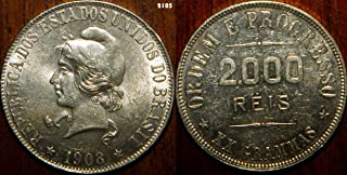 1908 - 1908 Brazil 2000 Reis KM#508 2000 reis Seller About Uncirculated