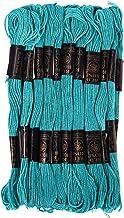 GroupB 25 écheveaux point de croix ancre coton fil à broder fil à broder pour projet de point de croix, bracelet d'amitié,...