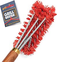Grillaholics Pro Nylon Grill Brush - Better Than a Bristle Free Grill Brush Nylon Bristle Brushes Clean Between The Grates - Lifetime Manufacturer's Warranty