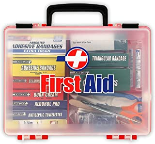 Rapid Care First Aid 81131 Premium 25 Person OSHA/ANSI 2009 Compliant Unitized First Aid Kit In Detachable Wall Mountable Poly Case
