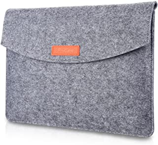 """ProCase 9.7-10.1 Inch Sleeve Case, Portable Felt Carrying Protective Bag Pouch for iPad 10.2 9.7 iPad Air 2 10.5"""" Pro 11"""" ..."""