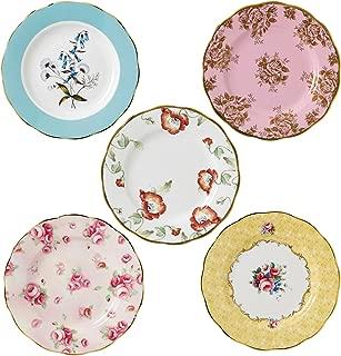 Royal Albert 40017562 100 Years 1950-1990 Plate Set, 8