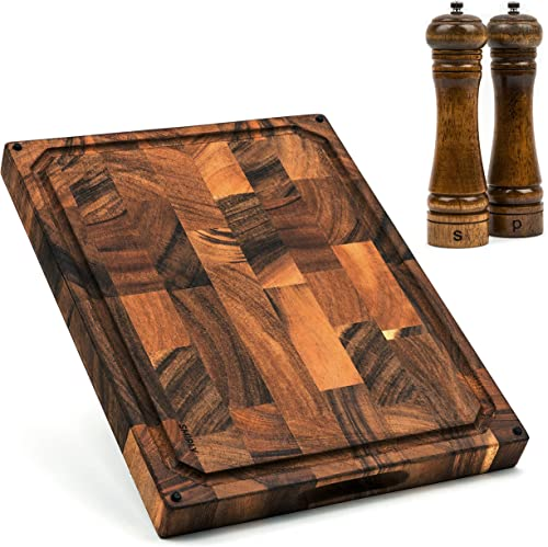 2021 SMIRLY online sale Butcher Block Cutting Board: Large Wood Cutting Board new arrival for Kitchen, Large Wooden Cutting Board, Extra Large Cutting Board Wood Chopping Block, Walnut Cutting Board Large, End Grain Cutting Board online