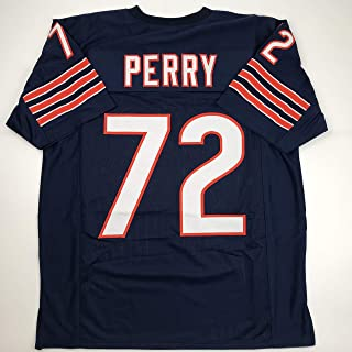 Unsigned William Perry The Refrigerator Chicago Blue Custom Stitched Football Jersey Size Men's XL New No Brands/Logos