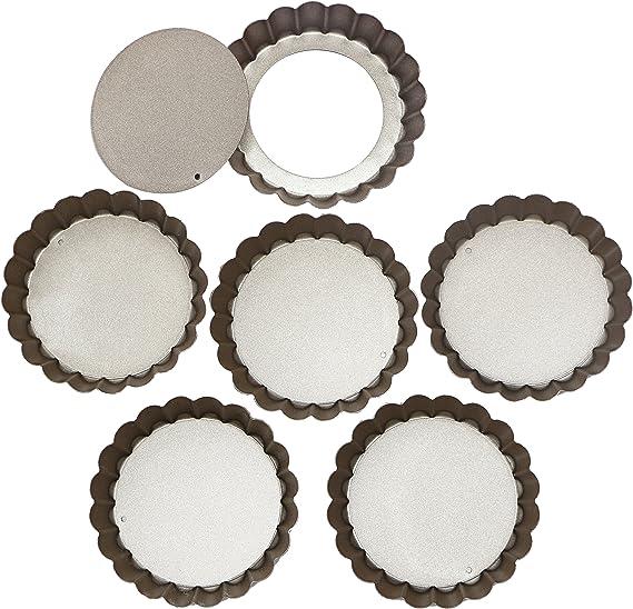 Webake 4 Inch Mini Tart Pan Set of 6