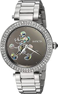 Women's Disney Limited Edition Quartz Watch with Stainless-Steel Strap, Silver, 18 (Model: 23780)