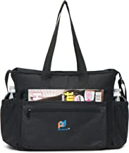 Extra Large Lunch Bag - 6 External Pockets -13.5x10.5x7 In. Thick Foam Insulation, Strong Peva Liner, Durable Zipper, Strong Stitching, Long Shoulder Straps, Elegant Design