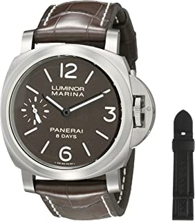 Panerai Men's PAM00564 Luminor Marina Analog Display Mechanical Hand Wind Brown Watch