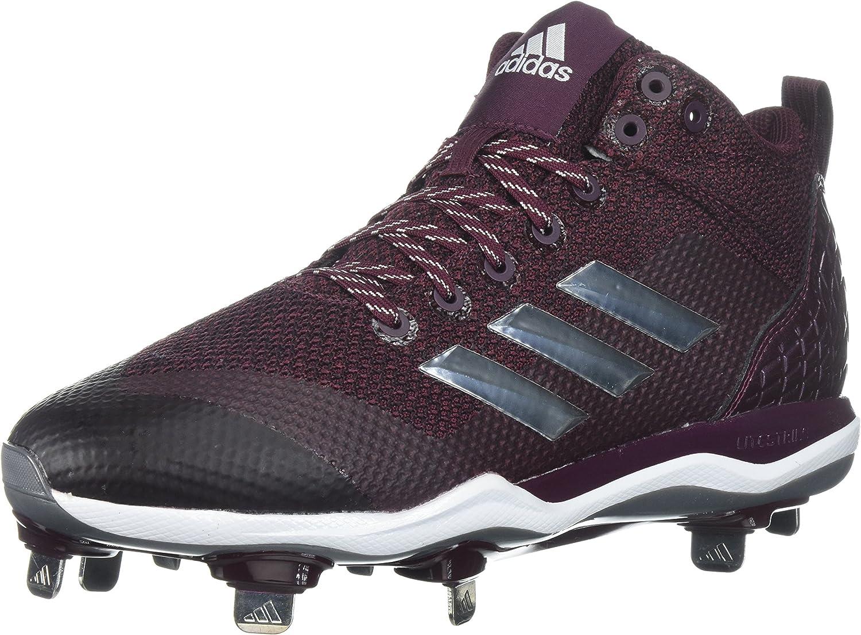 Adidas herrar Freak X bilbon bilbon bilbon Mid Baseball skor, Maroon, silver met, FTWR vit, 13 M USA  het försäljning