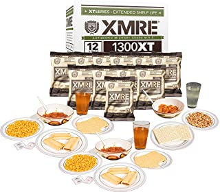XMRE 1300XT Freshly Packed in the Past 60 Days MRE Meals Ready to Eat. 12 Meals per Case. Includes Assortment of Delicious...